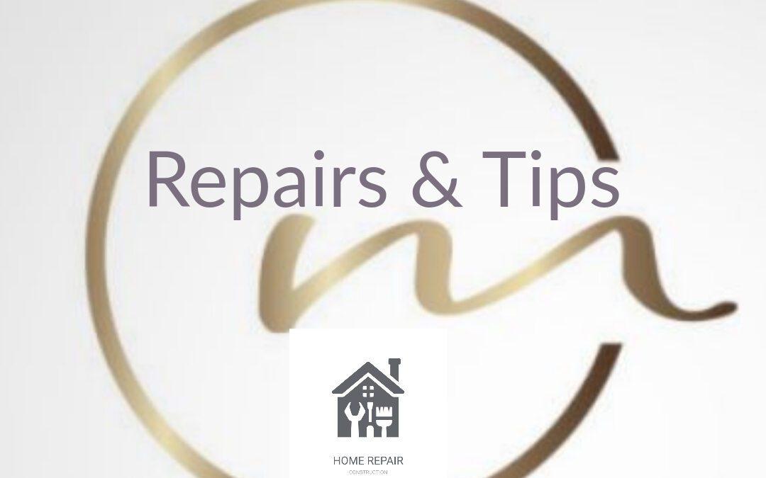 Homeowner's Tip: Maintenance & Repairs